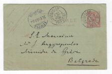 POSTCARD POSTED PALESTINE - SERBIA VIA FRANCE LEVANT POST JERUSALEM   1905
