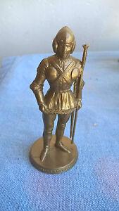 Mokarex Jeu d'échecs figurine dorée Charles le Téméraire Hallebardier Années 60