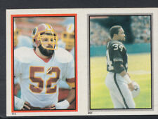 Topps 1984 American Football Sticker No's 261 & 111 - Pruitt & Olkewicz (T503)