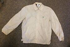IZOD Lacoste Vintage 80's Windbreaker Mens Tan Jacket Alligator Zip Nylon Size M