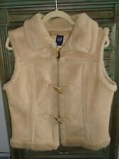 Gap Womens Faux Suede Shearling Vest Size Large