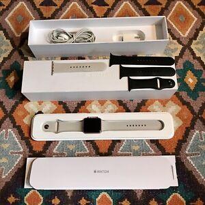 EUC Apple Watch Rose Gold Original SPORT SERIES 1 42MM w/ 2 Colored Bands
