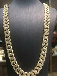 """Solid Curb CUBAN Heavy 9ct Yellow Geniune Gold 13mm Wide Chain Men's 233gr 28"""""""