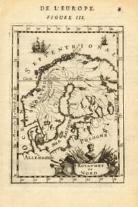 SCANDINAVIA. Norway Sweden Denmark Finland. 'Royaumes du Nord'. MALLET 1683 map