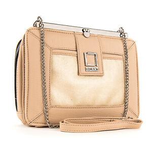 Lencca Women Premium Leather Chain Shoulder Crossbody Bag Wallet Purse Clutch