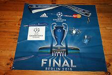 Champions League Finale Paket 6 Teile 2 Pins Lanyard Sticker Tüte Kugelschreiber