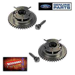 Set 2 Genuine Ford 5.4L 3V Camshaft Phaser Sprocket V8 F150 Explorer Gear Timing