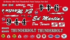 #944 Don Turner Ed Martin's Ford Thunderbolt 1/32nd Scale Slot Car Decals NHRA
