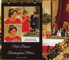 Ghana 2015 MNH State Dinner Queen Elizabeth II President Xi Jinping 3v M/S Kate