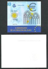 ESPAÑA 2009 - PRUEBA DE LUJO OFICIAL  EDIFIL Nº 98 - X ANIV. CREACIÓN DEL EURO