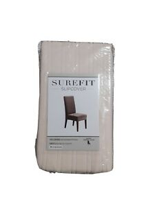 New Surefit Short Dining Chair Slipcover Cream Color Form Fit Machine Washable