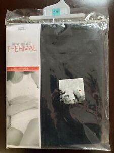 Ladies Marks & Spencer sleevelees Thermal Vest Size 14 Black New