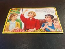 """Vintage Sewing Needle Card Sewing Susan """"70 Gold Eye Needles w threader"""" New New"""