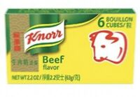 Knorr Beef Bouillon 6 Cubes 2.2 Oz (Pack Of 2 Boxes)