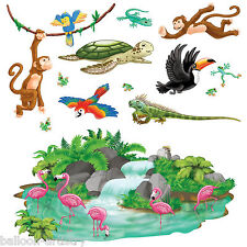 Jungle Wild Fun Animals Party Scene Setter Add-on Props Decorations WATERFALL
