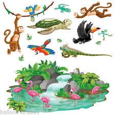 Animales De La Selva Salvaje Divertido Fiesta Escena Setter Add-on Puntales Decoraciones Cascada