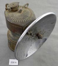Antique Justrite Streamlined Carbide Miner's Lamp, No Reserve Auction!