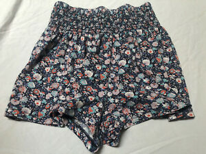 NWT American Eagle Women's Size X-Small Floral Flowy Shorts Pink Blue NEW