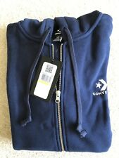 Converse Men's Star Chevron Embroidered Hoodie Size M Brand New Obsidian