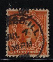 1903 Sc 310 Jefferson used 50c single CV $35  A