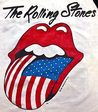 Vintage 80s 1981 THE ROLLING STONES American Rock Concert Tour T SHIRT Jersey S