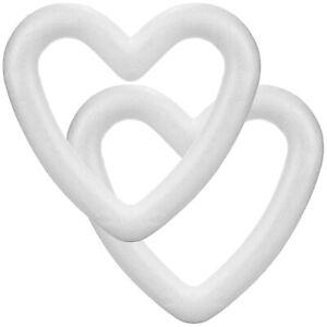 2x Styropor-Herz zum Basteln - Bastelset aus Styropor in Herz-Form
