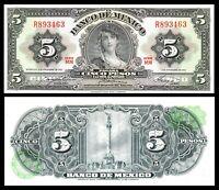 Mexico: $5 Pesos La Gitana Nov 8, 1961 Banco de Mexico UNC