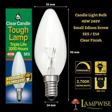 BELL LIGHTING 40 WATT CLEAR SES E14 SMALL EDISON SCREW CAP