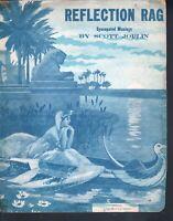 Reflection Rag 1917 Scott Joplin  Large Format Sheet Music