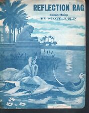 Reflection Rag 1917 Scott Joplin  Large Format Sheet Music