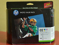 Genuine HP 02 Ink Black Color Cartridges Photo Value Pack