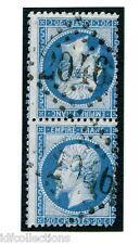 Classique France Napoléon N°22b oblitéré en paire tête bêche verticale cote:1400