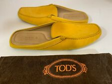 TOD'S 109619 MEN'S YELLOW SUEDE SLIPPER MULES SZ 9