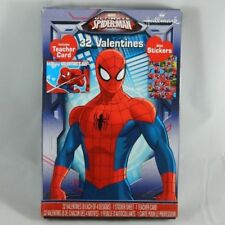 32 Count Ultimate Spider-Man Valentines Day Cards w/ Stickers & Teacher Card