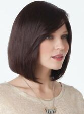 Quinn 8200 Human Hair Wig by Amore Lace Front Mono top - Color A4 Dark Brown