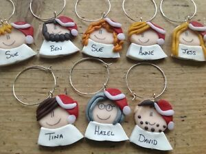 Wine Glass Charms Name Setting Table Name Place Personalised Handmade Xmas