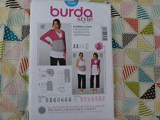 Burda 7239 Misses' Maternity pants top Bolero belly wrap sewing pattern 10-22