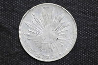 Mexico - Republic 1877 Zs JS 8 Reales Silver Coin ( Weight : 26.94 g ) C19