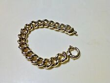 """Unisex Large  CHUNKY  STERLING SILVER 925 CHAIN BRACELET 7.5"""" ITALY"""