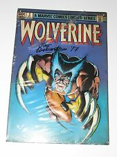 Marvel Limited Edition Wolverine #2 Metal Sign Hand Signed by Joe Rubintein New
