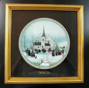 "Anna Perenna ""CHRISTMAS CAROL"" Framed by P. Buckely Moss Plate"
