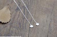 925 Sterling Silver Long Chain Pull Through Ear Thread Dangle Drop stud Earrings