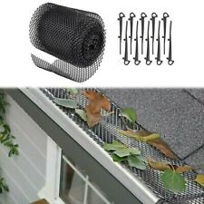 Mesh Gutter Guard Wire Net Cover Drain Leaf Debris Clog Protection Netting