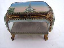 Ancienne boite, coffret en verre biseauté Expo Universelle 1900 la Tour Eiffel