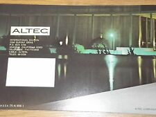 Altec 604 601 416 411 414 405A & more Vintage Speakers Original Catalogs Specs
