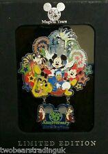 Disney Pin Box Set: WDW 35th Anniversary 35 Magical Years Jumbo/Dangle  LE 1500