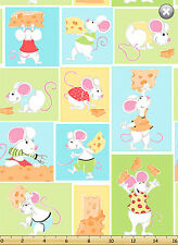 """Susybee's Norton Cheese patch work 100% cotton fabric remnant 43"""" X 30"""""""