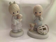 Pair Of Vintage Samuel J. Butcher Precious Moments Figurines (1991, 1987)