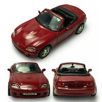 Mazda MX-5 Cabrio 1/43 Die Cast Modellauto Spielzeug Kinder Sammlung Rot