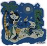 Paradise Island STICKER Decal Tiki Castaway Hula Girl Derek Yaniger DY47